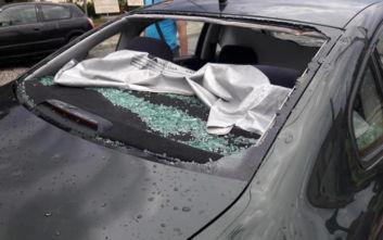 Αλεξανδρούπολη: Μεγάλες καταστροφές σε κατοικίες, επιχειρήσεις και οχήματα από έντονη χαλαζόπτωση