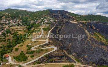 Φωτιά στη Δίβρη Φθιώτιδας: Η επόμενη μέρα από ψηλά