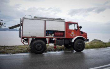 Φωτιά στον οικισμό Ρομά στην Περαία Θεσσαλονίκης