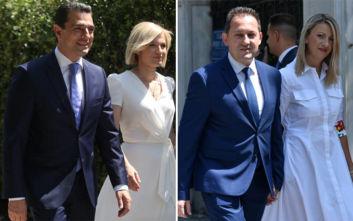 Οι εντυπωσιακές συνοδοί των μελών της νέας κυβέρνησης