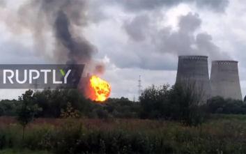 Μεγάλη φωτιά σε θερμοηλεκτρικό σταθμό στη Μόσχα με 6 τραυματίες