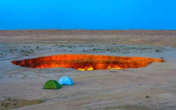 Ανακαλύψτε την Πύλη της Κόλασης στο Τουρκμενιστάν
