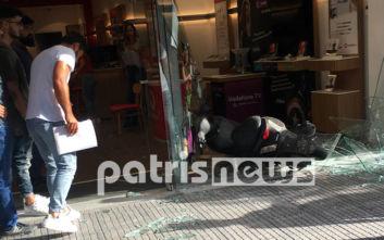Πύργος: Οδηγός έχασε τον έλεγχο και μπήκε σε κατάστημα