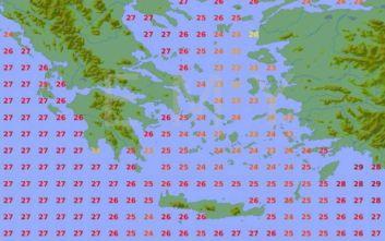 Καιρός για βουτιές: Η θερμοκρασία που έχει η θάλασσα σε κάθε περιοχή της Ελλάδας