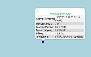 Σεισμός στα νότια παράλια της Κρήτης