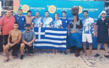 Δύο μετάλλια η Ελλάδα στο Παγκόσμιο πρωτάθλημα Πάλης στην Άμμο