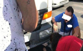 Τροχαίο στην Κρήτη: Πεζή βρέθηκε κάτω από τις ρόδες φορτηγού και επέζησε