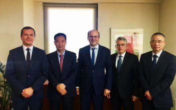 Συνάντηση Χατζηδάκη-State Grid: Σταθερό το ενδιαφέρον της Κίνας για επενδύσεις στην Ελλάδα