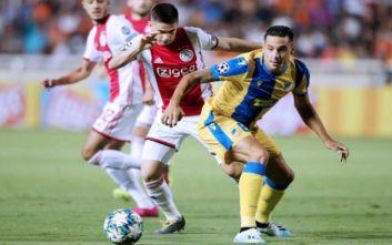 Ανώτερος του Άγιαξ ο ΑΠΟΕΛ αλλά δεν κατάφερε να σκοράρει και έμεινε το 0-0