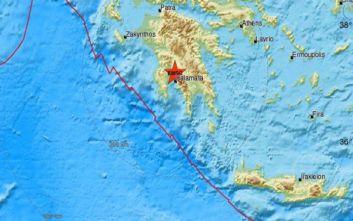 Σεισμός τώρα κοντά στην Καλαμάτα
