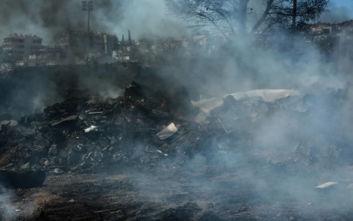 Φωτογραφίες από τη φωτιά στο Χαϊδάρι, μεγάλη κινητοποίηση της Πυροσβεστικής