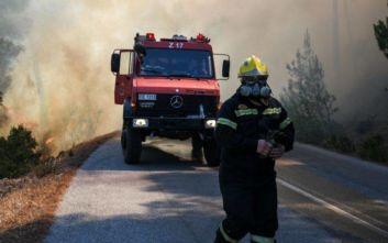 Μεγάλη φωτιά στην Εύβοια: 2.500 μπουκάλια νερού και χυμούς στους πυροσβέστες από το δήμο Αθηναίων