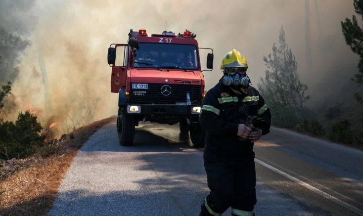 Πυρκαγιά σε δασική έκταση στον Ασπρόπυργο
