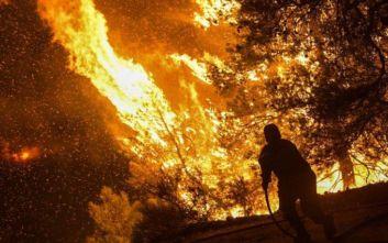 Μεγάλη φωτιά στην Εύβοια: Ενίσχυση των ανέμων αναμένεται μέσα στη νύχτα