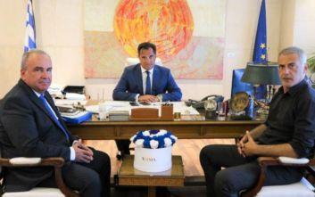 Το επενδυτικό σχέδιο της Cosco στον Πειραιά συζήτησαν Γεωργιάδης-Μώραλης