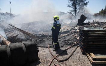 Φωτιά στο Χαϊδάρι: Αποκαταστάθηκε η κυκλοφορία που είχε διακοπεί