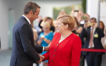 Το προσφυγικό-μεταναστευτικό στο επίκεντρο της συνάντησης Μητσοτάκη- Μέρκελ