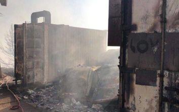 Στάχτη οι εγκαταστάσεις του «Love 97,5» από την πυρκαγιά στον Υμηττό
