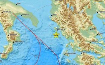 Σεισμός στην Κέρκυρα: Αναθεωρήθηκε σε 4,5 βαθμούς της κλίμακας Ρίχτερ το μέγεθος της δόνησης