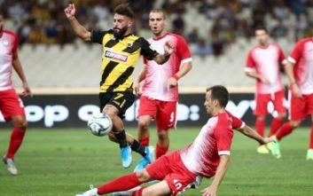 Η Ξάνθη νίκησε με 2-1 την ΑΕΚ μέσα στο ΟΑΚΑ
