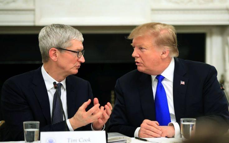 Η Apple πιέζει τον Τραμπ κατά των δασμών στην Κίνα