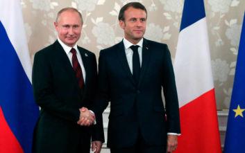 Συνάντηση Μακρόν με Πούτιν πριν από τη Σύνοδο Κορυφής της Ομάδας των 7