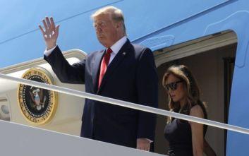 Εν μέσω αποδοκιμασιών έφτασε στο Ελ Πάσο ο Τραμπ