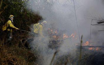 Επίθεση στην εθνική κυριαρχία της Βραζιλίας βλέπει με αφορμή τις φωτιές στον Αμαζόνιο ο Μπολσονάρου