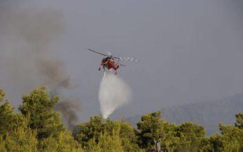 Έτσι κατέγραψε τη φωτιά στην Εύβοια drone της Πυροσβεστικής
