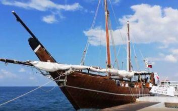 Στη Μύκονο το παραδοσιακό ξύλινο σκάφος από το Κατάρ