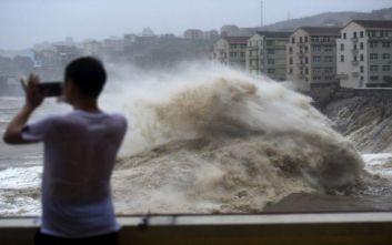 Στους 49 οι νεκροί από τον τυφώνα Λεκίμα στην Κίνα, 21 αγνοούμενοι