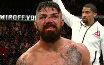 Με άγριο ξύλο και μια σπασμένη μύτη κατέληξε αγώνας του UFC
