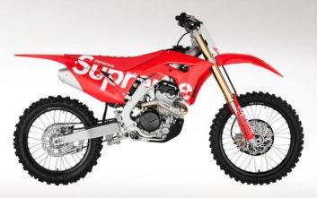 Honda και Supreme συνεργάζονται σε ένα τρελό χωμάτινο μηχανάκι