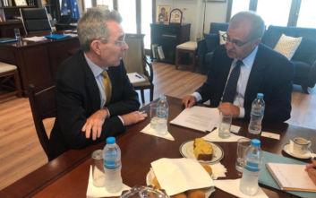 Συνάντηση του Αντώνη Διαματάρη με τον πρέσβη των ΗΠΑ Τζέφρι Πάιατ