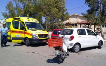 Τροχαίο ατύχημα με τραυματισμό οδηγού μηχανής στη Σούδα