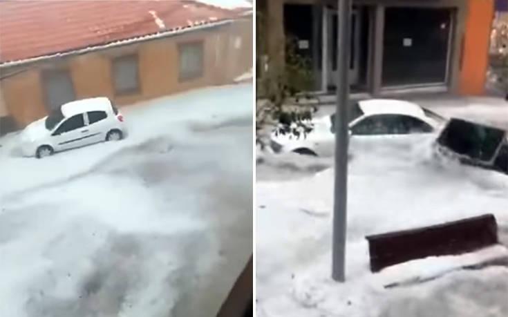 Μεγάλες πλημμύρες μετέτρεψαν σε ποταμούς δρόμους στη Μαδρίτη