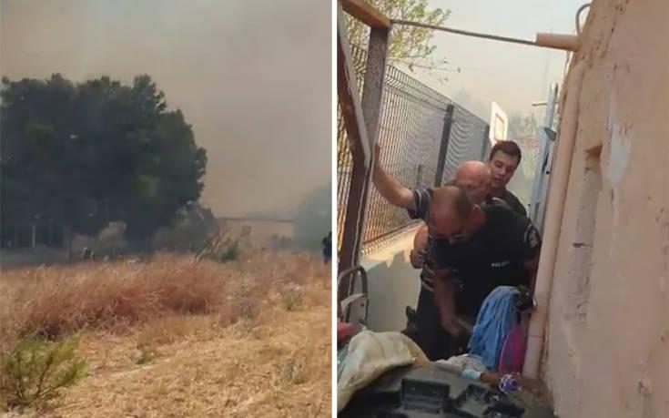 Οι πρώτες εικόνες από τη μεγάλη φωτιά στην Αρτέμιδα