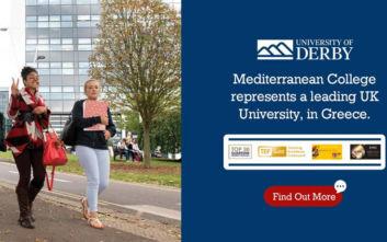 Mediterranean College x University of Derby: Πανεπιστημιακές Σπουδές Ευρωπαϊκού Επιπέδου
