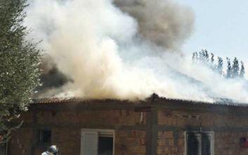 Κάηκε σπίτι στην Αμαλιάδα, κινδύνευσε ζευγάρι ηλικιωμένων