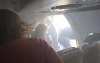 Τρόμος και πανικός σε πτήση, η καμπίνα των επιβατών γέμισε καπνό