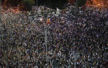 Ρουμανία: Χιλιάδες διαδηλωτές ζητούν την παραίτηση της κυβέρνησης