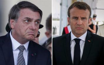 O Μπολσονάρου δεν δέχεται τη γαλλική βοήθεια αν δεν ζητήσει συγγνώμη ο Μακρόν
