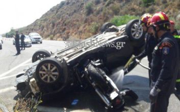 Σφοδρό τροχαίο στην Κρήτη με έναν νεκρό και δυο τραυματίες