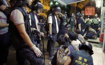 Η αστυνομία στο Χονγκ Κονγκ έκανε χρήση δακρυγόνων για να διαλύσει διαδηλωτές