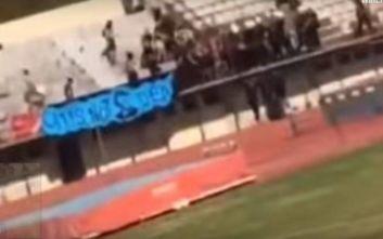 Άγρια επεισόδια σε ποδοσφαιρικό αγώνα στον Πύργο