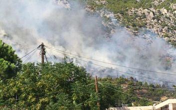 Φωτιά σε εξέλιξη στο Λουτράκι, ενισχύονται οι πυροσβεστικές δυνάμεις