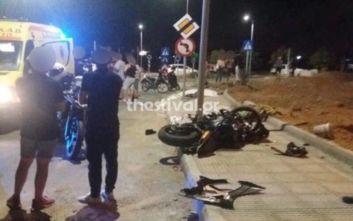 Τραγωδία στη Θεσσαλονίκη: Νεκροί δύο νεαροί σε τροχαίο με μοτοσικλέτα