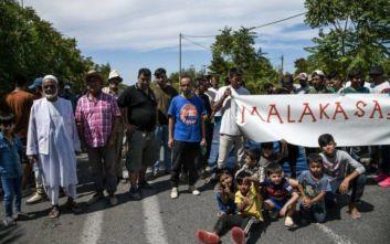 Αλλοδαποί είχαν αποκλείσει τη σιδηροδρομική γραμμή στη Μαλακάσα
