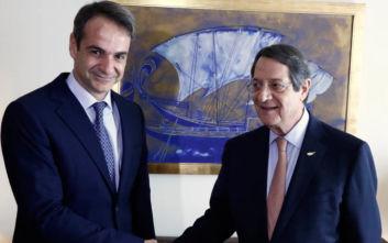 Στην Αθήνα ο Νίκος Αναστασιάδης, συνάντηση με τον Κυριάκο Μητσοτάκη