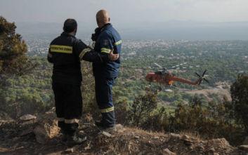 Φωτιά στο χωριό Γουρνιές στο Ηράκλειο Κρήτης